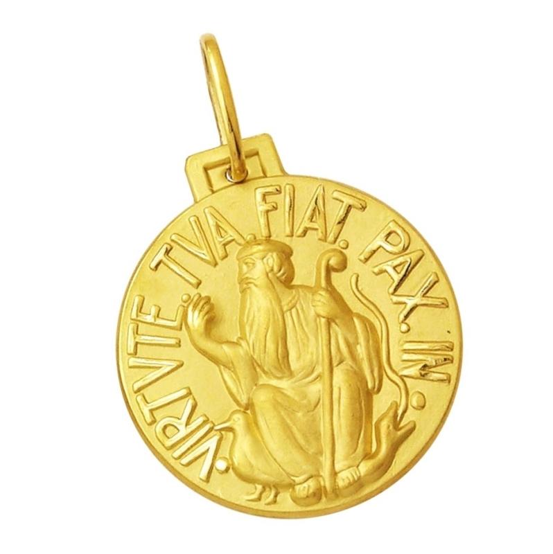 8ce8fb78a9341 Início · Pingentes e Medalhas Religiosas  MEDALHA SÃO BENTO 1,10 CM OURO 18K