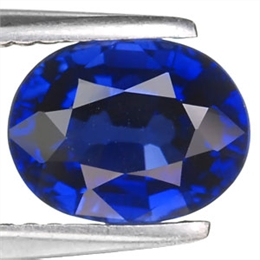 SAFIRA AZUL KASHIMIR INTENSE OVAL 2,45CT SAF CR 2,45