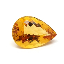 CITRINO AAA LARANJA NATURAL GOTA 12.38CT
