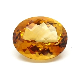 CITRINO AAA LARANJA VERMELHADO NATURAL OVAL 13.53CT