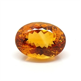 CITRINO AAA LARANJA  NATURAL OVAL 16.47CT