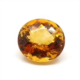 CITRINO AAA LARANJA VERMELHADO NATURAL OVAL 18.77CT