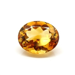 CITRINO AAA LARANJA NATURAL OVAL 8.28CT
