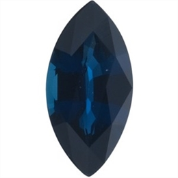 SAFIRA AZUL NATURAL NAVETE A 2,0MM X 4,0MM CALIBRADAS
