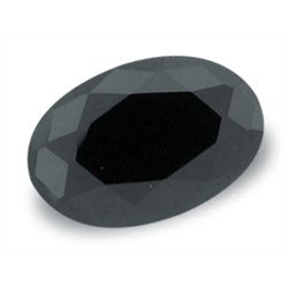 ONIX BLACK OVAL FACETADOS ONIX OVAL  9mm x 11mm