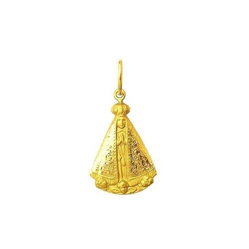 3da1733e7bd1f Início · Pingentes e Medalhas Religiosas  PINGENTE NOSSA SENHORA APARECIDA  EM OURO 18K DMAR 2 1
